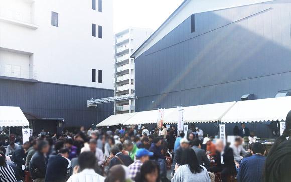 2017年11月4日櫻正宗での伍魚福ピリ辛さきいか天の催事イベントの様子